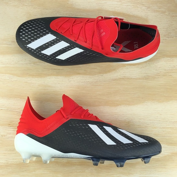 info for 72133 9b674 Adidas X 18.1 FG Red Core Black Soccer Cleats Size NWT